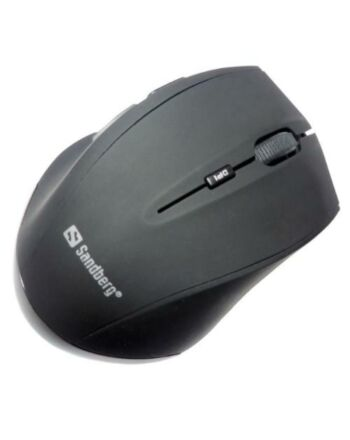 Sandberg (630-06) Wireless Optical Mouse, 1600 DPI, 5 Buttons, Black, 5 Year Warranty