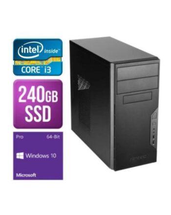 Spire MATX Tower PC, Antec VSK3000B, i3-10100F, 8GB, 240GB SSD, Asus GT710, Corsair 450W, DVDRW, KB & Mouse, Windows 10 Pro