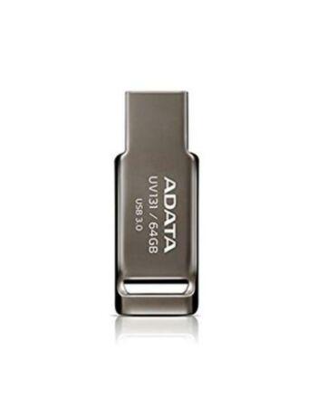 ADATA 64GB USB 3.0 Memory Pen, Capless, Chromium Grey