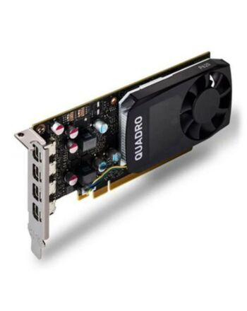 PNY Quadro P620 Professional Graphics Card, 2GB DDR5, 512 Cores, 4 miniDP 1.4 (4 x DVI adapters), Low Profile (Bracket Included)