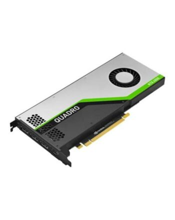 PNY Quadro RTX 4000 Professional Graphics Card, 8GB DDR6, 2304 Cores, 3 DP 1.4 (DVI & HDMI adapters included), USB-C, Turing Ray Tracing