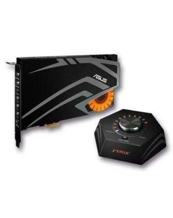 Asus STRIX RAID DLX Gaming Soundcard, PCIe, 7.1, Audiophile-Grade DAC, 124dB SNR, Raid Mode & Control Box