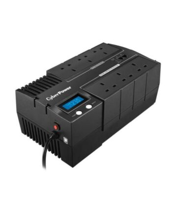 CyberPower BRICs 1200VA Line Interactive UPS, 720W, LCD Display, 6 x UK Plug, AVR Energy Saving, Wall Mountable
