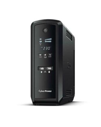 CyberPower PFC Sinewave 1300VA Line Interactive Tower UPS, 780W, LCD Display, 2x UK Plug, 4x IEC, AVR Energy Saving