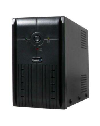 Powercool 650VA Smart UPS, 390W, LED Display, 2 x UK Plug, 2 x RJ45, USB