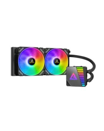 Antec Symphony 240 Liquid CPU Cooler, 240mm Radiator, 12cm ARGB PWM Fans, Mirror ARGB Pump Head, 14 Dense Cooling Fins