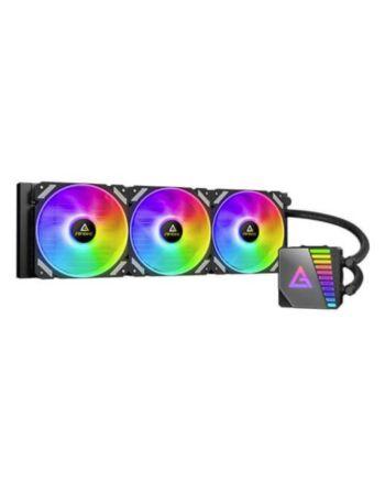 Antec Symphony 360 Liquid CPU Cooler, 360mm Radiator, 12cm ARGB PWM Fans, Mirror ARGB Pump Head, 14 Dense Cooling Fins